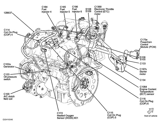 2013 ford fusion engine diagram