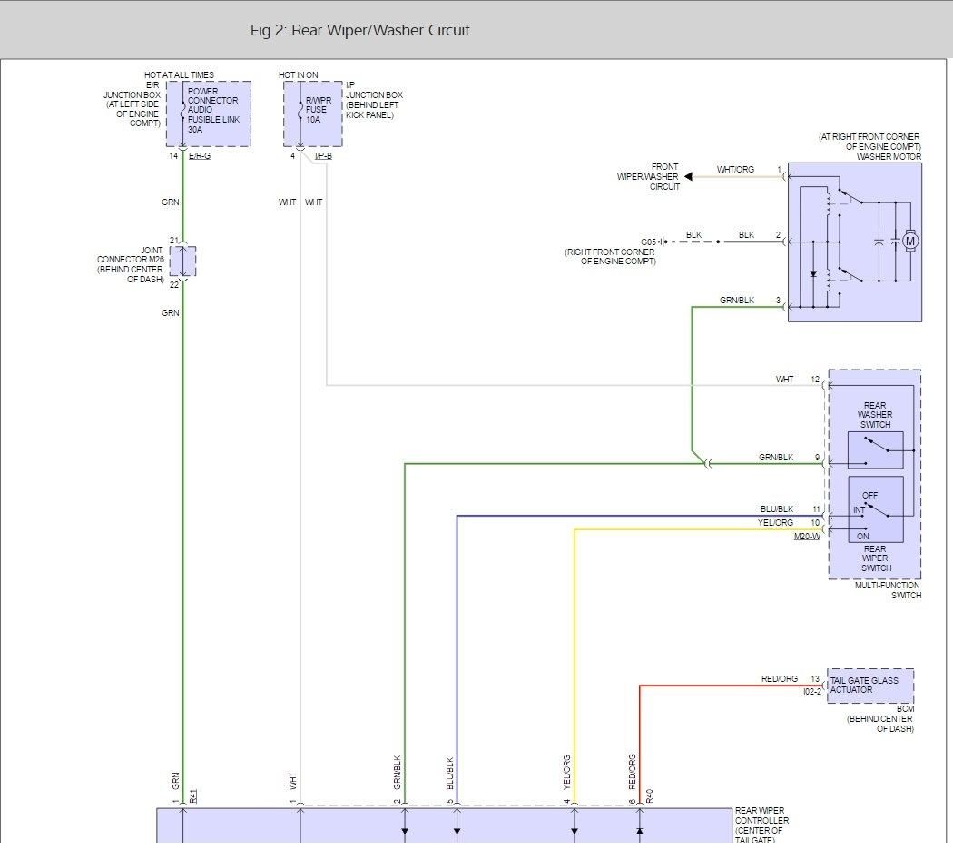 rear wiper motor wiring diagram nutone doorbell 31 images