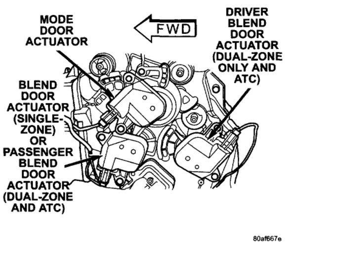 Blend Door Actuator Locations Please: I Have a 2003