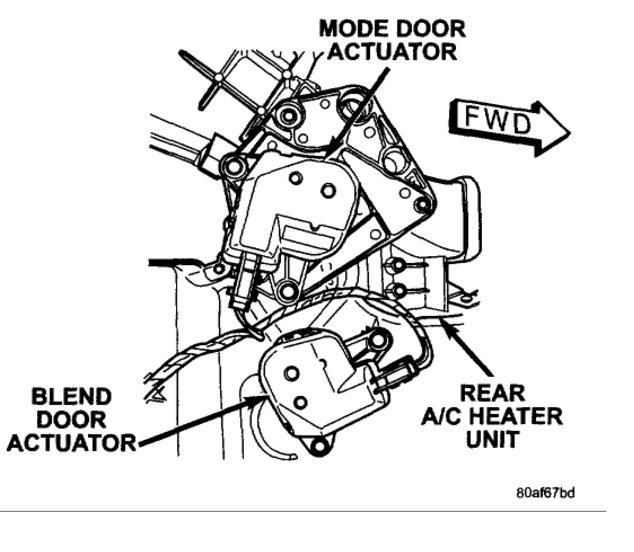 Blend Door Actuator Locations Please: I Have a 2003