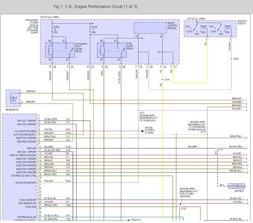 2001 dodge caravan wiring diagram kicker cvr dvc ipm fuse and relay box 41