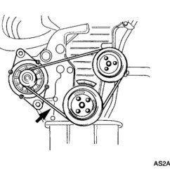 2002 Kia Spectra Engine Diagram Dragonfire Pickup Wiring 2003 Replacing Alternator Belt: 4 Cyl...
