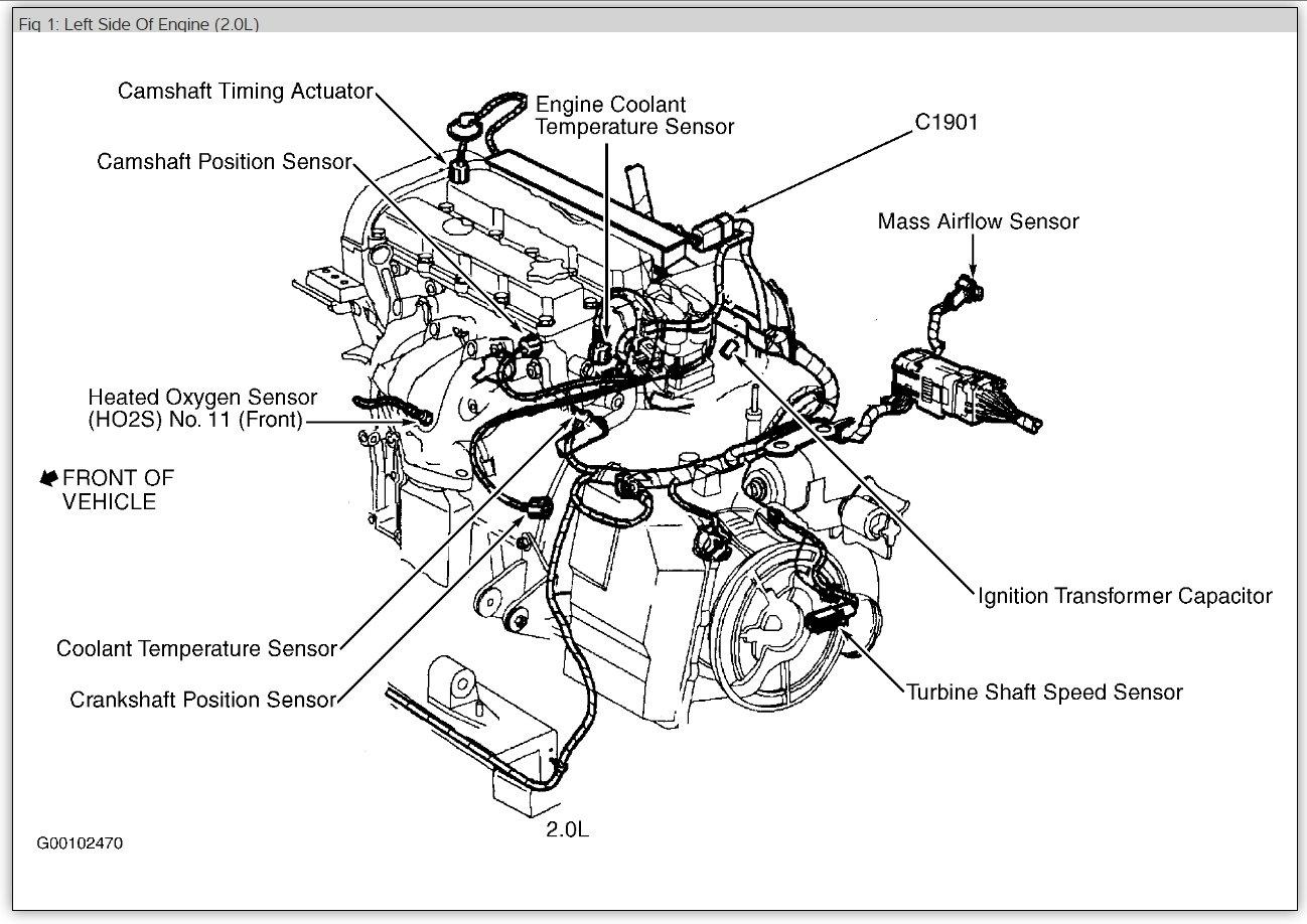 ford crankshaft position sensor location