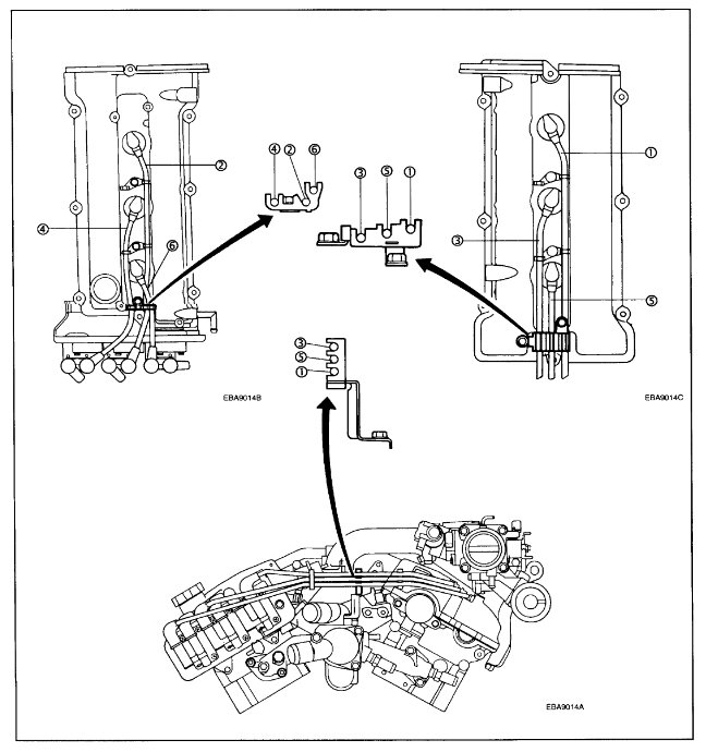 2003 Hyundai Tiburon Firing Order: Engine Mechanical