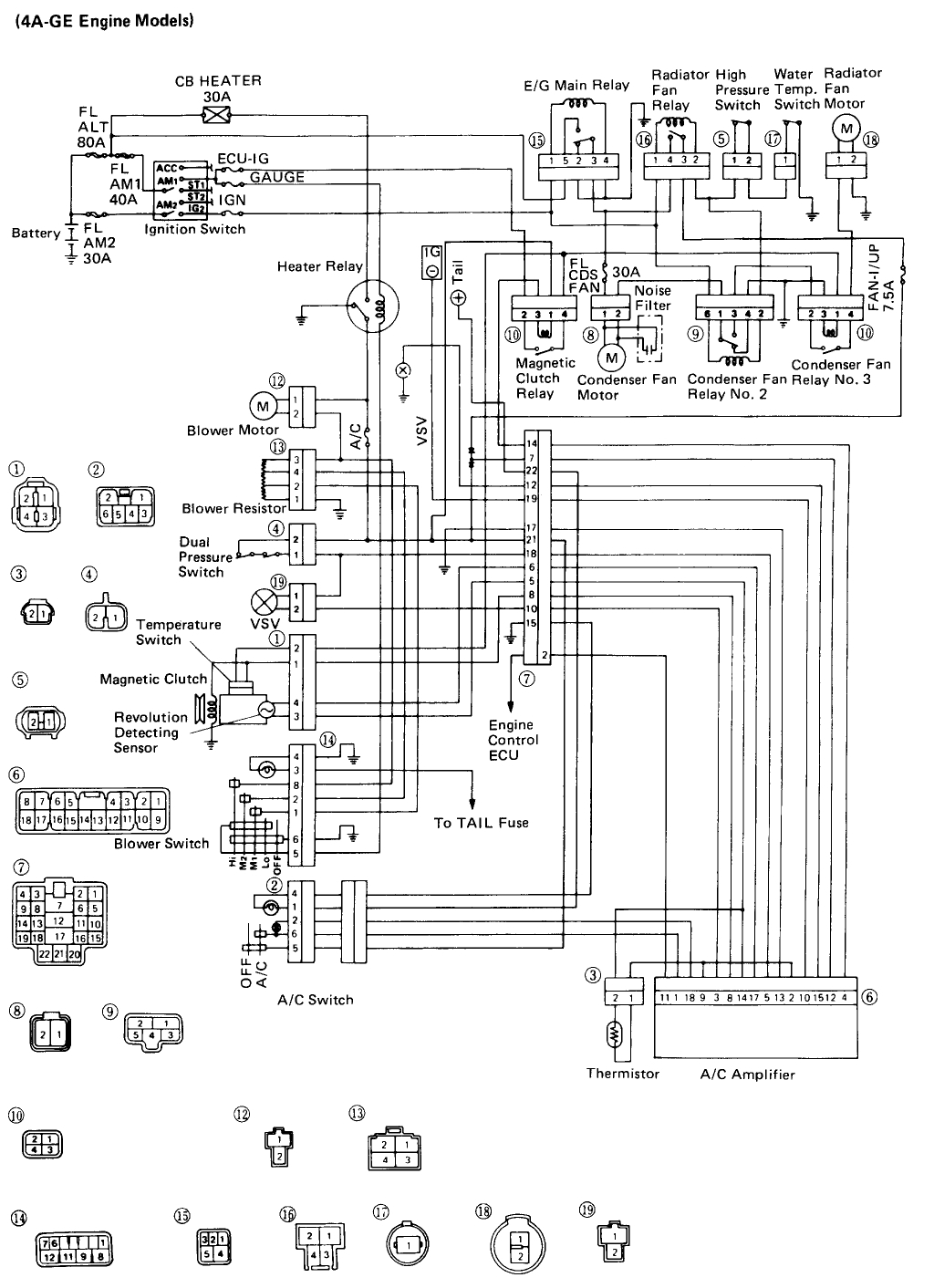 Wrg Toyota Sienna Air Conditioning Schematic