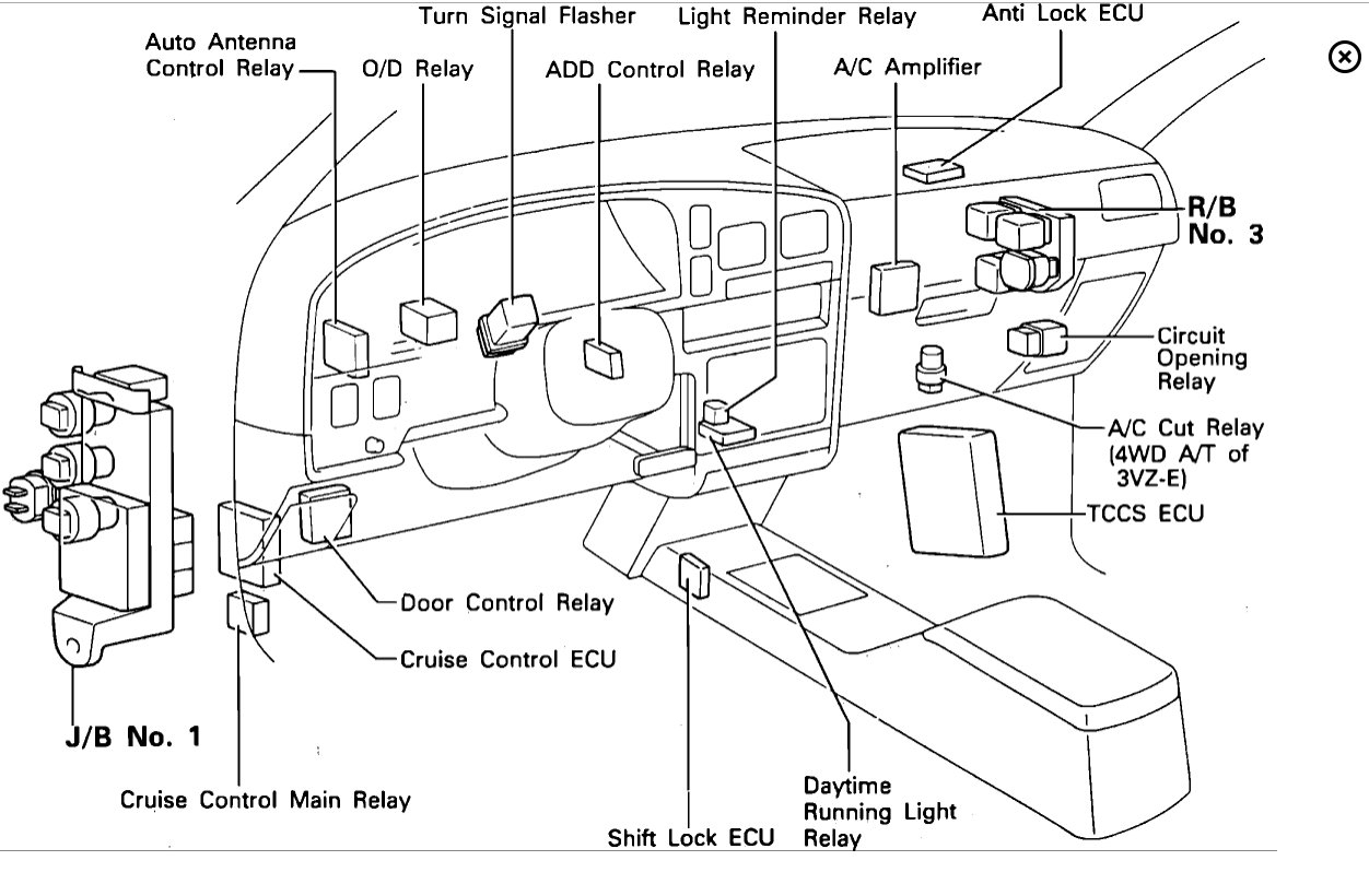 1996 toyota 4runner wiring diagram thermistor relay 2014 fuse library