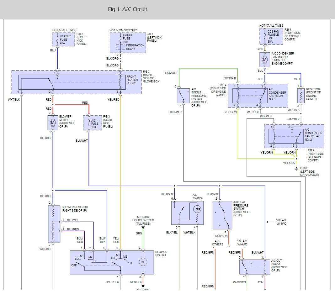 1995 toyota 4runner wiring diagram t5 electronic ballast air conditioning relay electric motor