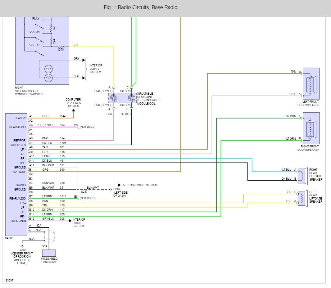 2000 chevy truck radio wiring diagram big 3 upgrade electrical problem