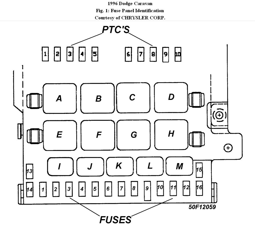 [WRG-1907] 2001 Chrysler Voyager Fuse Panel Diagram