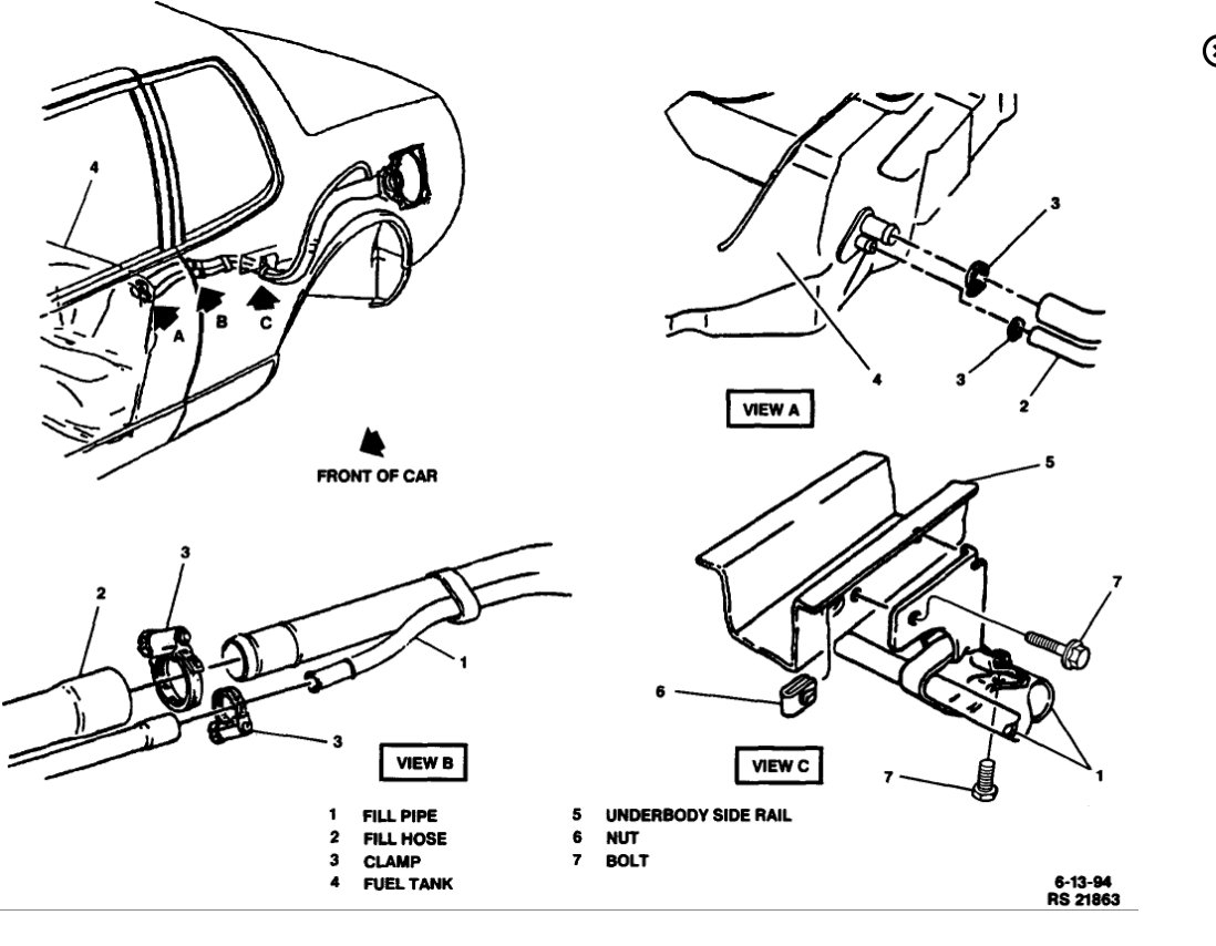 Fuel Pump Location Where Is Fuel Pump For Cadillac