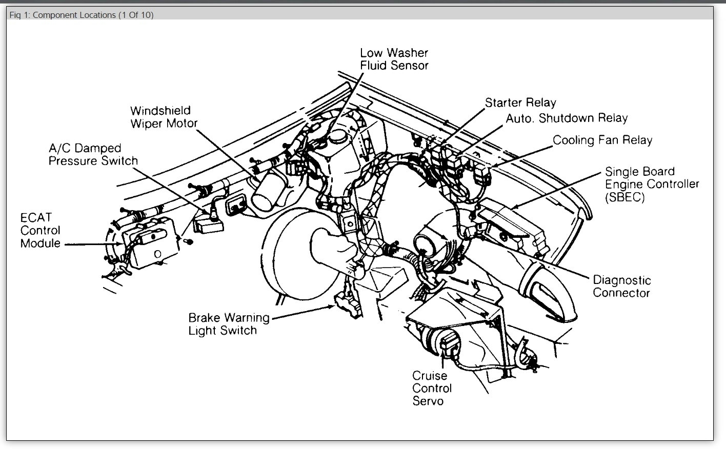 2000 Chrysler Concorde Engine Cooling System Diagram 2000