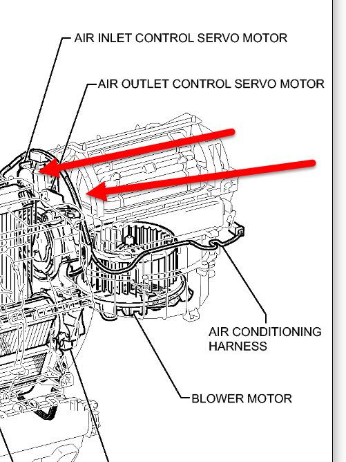 Toyota Sienna Air Conditioner Vent System Diagram. Toyota