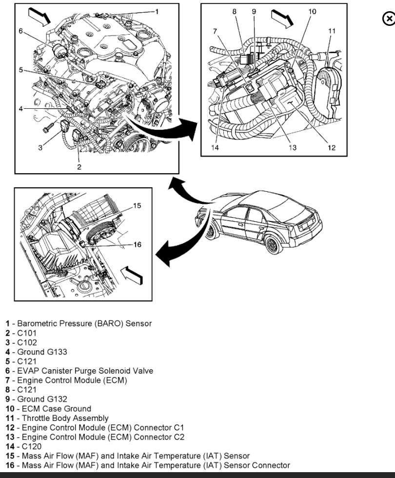 hight resolution of cadillac cts where is the ecm located in 2005 cadillac cts and engine 2004 cadillac deville ecm location diagram 2006 cadillac srx