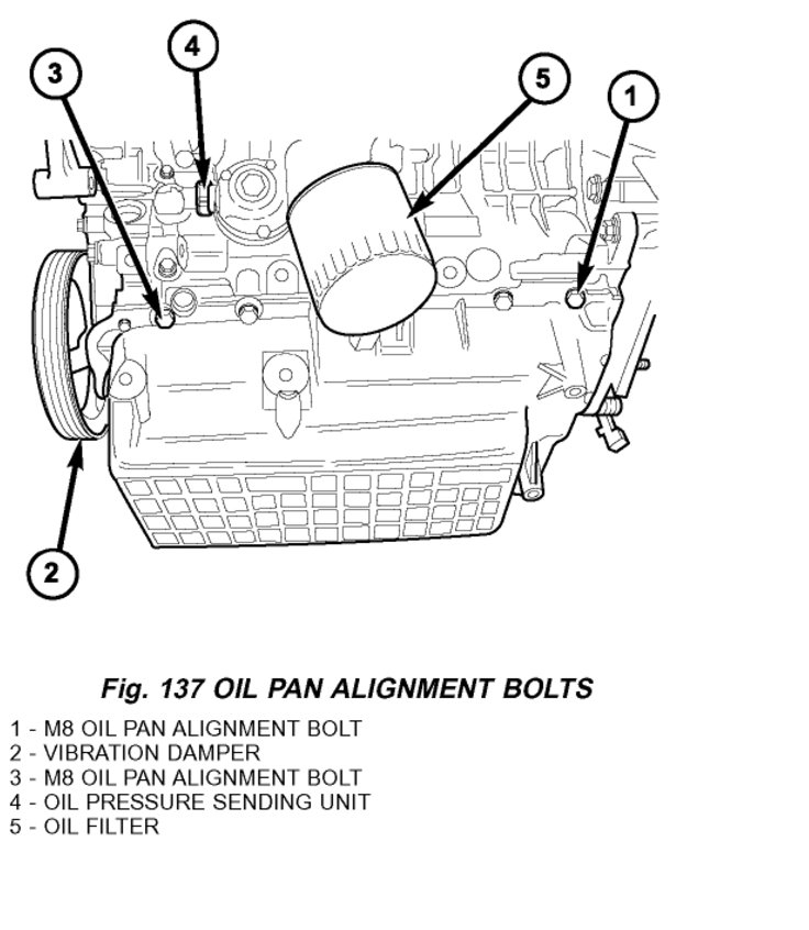 Replace the Engine Oil Pan: I Need to Replace the Engine
