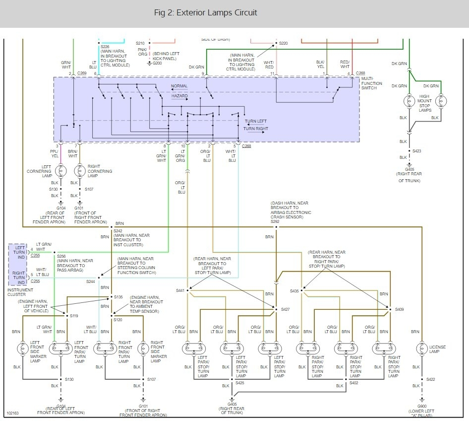 hight resolution of wrg 1635 wiring diagram 97 lincoln town carturn signals don u0027t work electrical problem