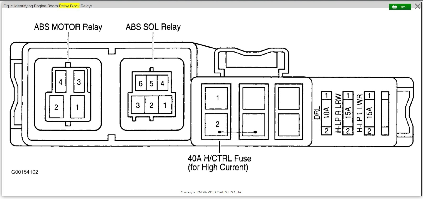 A/C Relay Location: Need to Replace A/C Fan Relay. Which