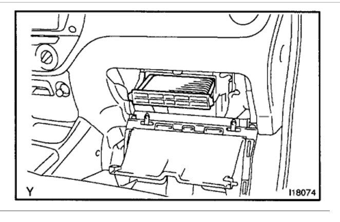 Cabin Filter Location: Interior Problem 6 Cyl Two Wheel