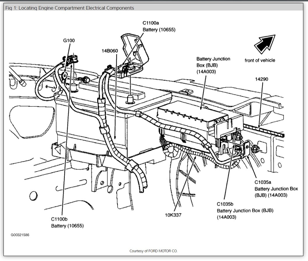 2003 ford taurus parts diagram electrical installation wiring radio fuse and box location please