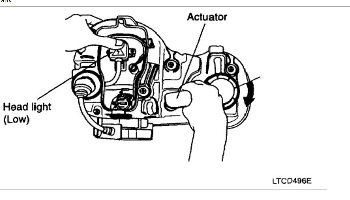 Headlight Adjustment: Electrical Problem 6 Cyl Front Wheel