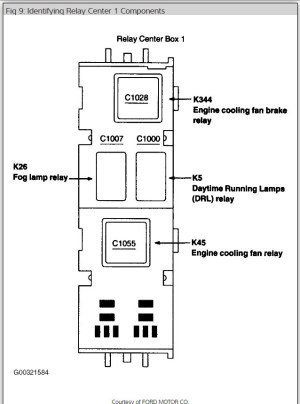 Power Windows Fuse or Relay: Electrical Problem 6 Cyl