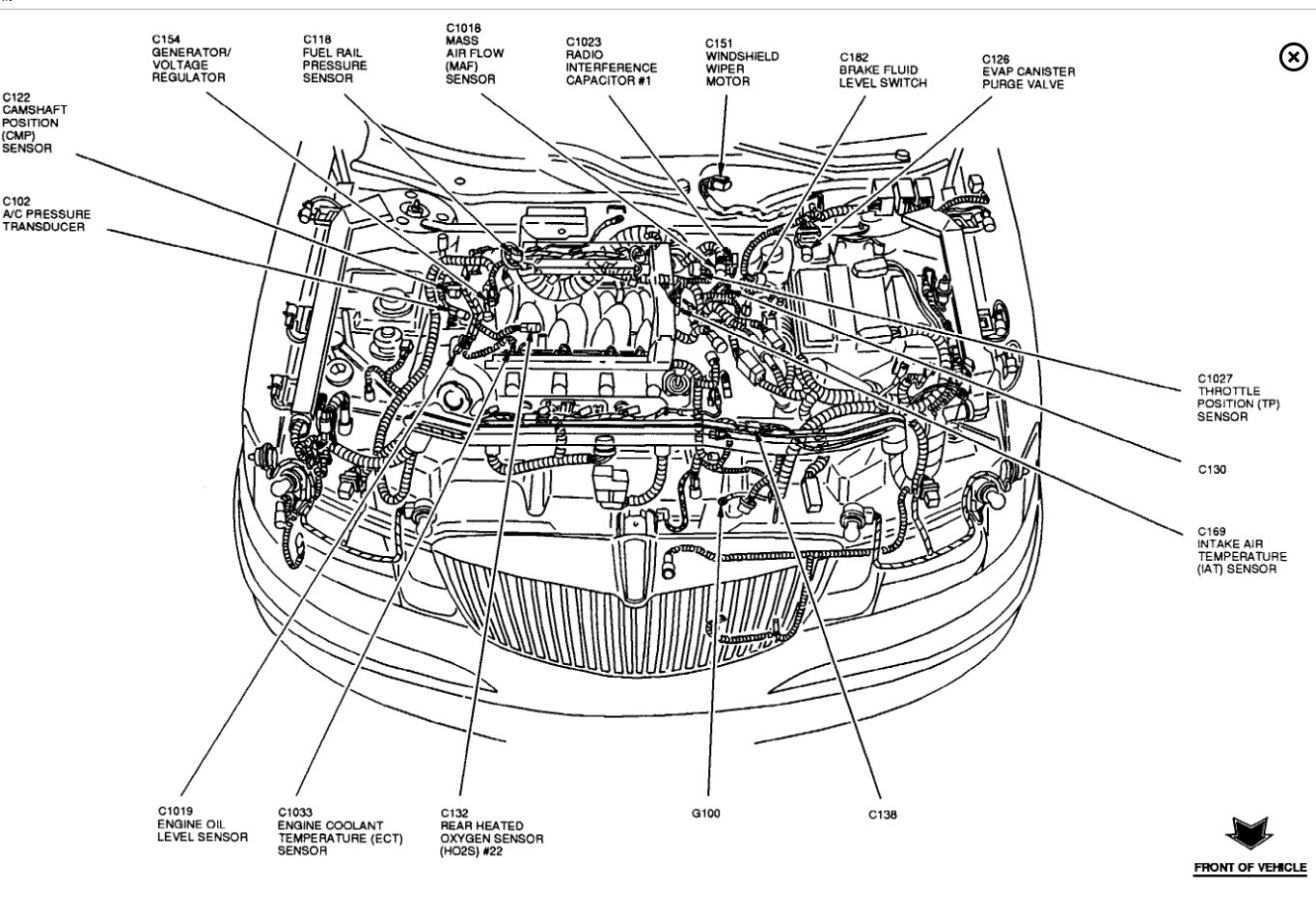 Cam Position Sensor Location?: Transmission Problem V8