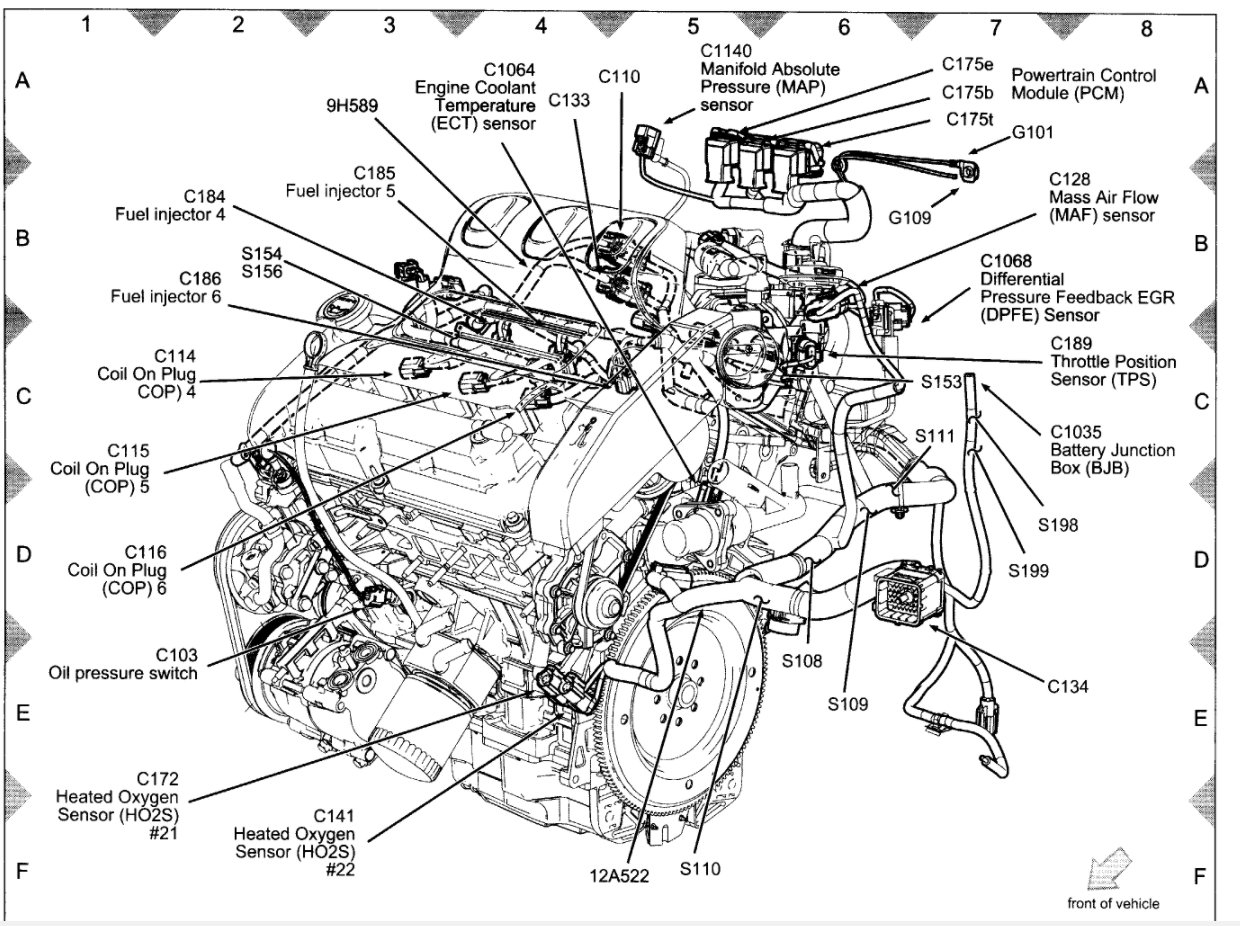 [WRG-1822] Gm 3100 Engine Coolant Diagram