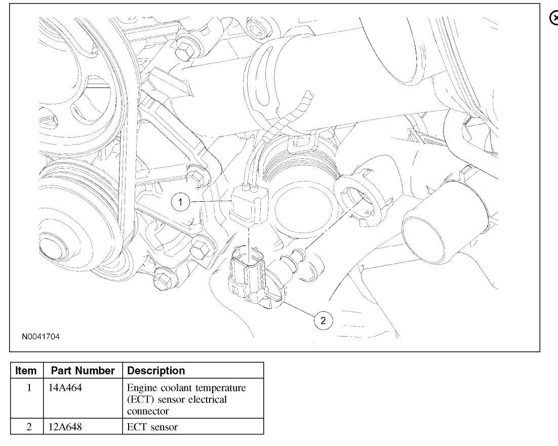 hight resolution of coolant temperature sensor location need to know where