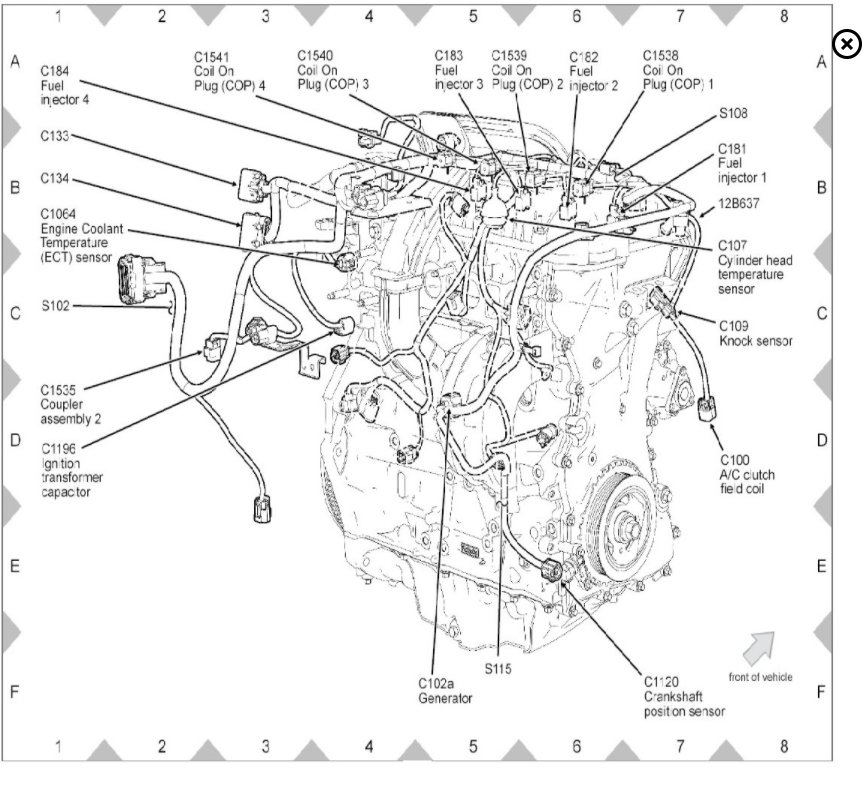 2013 Ford Fusion Cylinder Diagram. Ford. Auto Parts