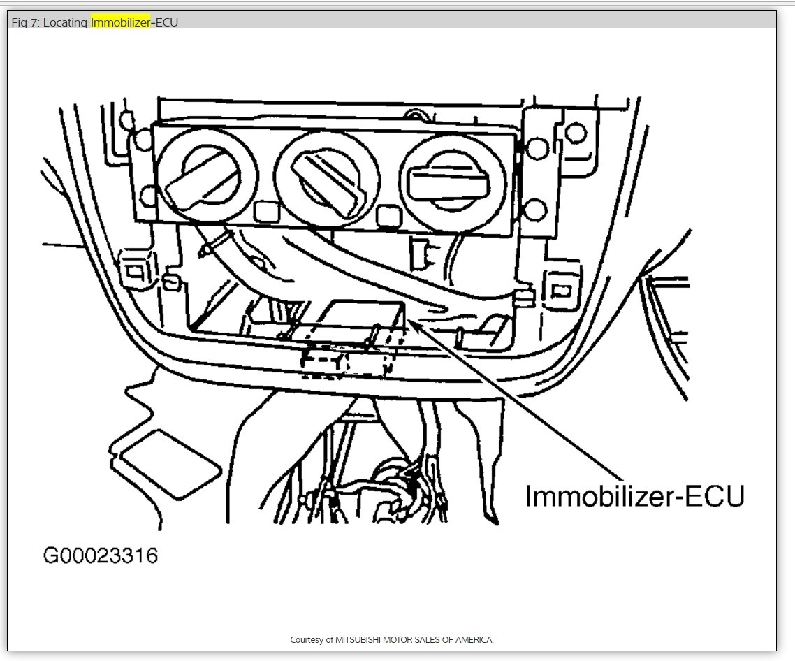 P Immobilizer System Malfunction Car Came Ind