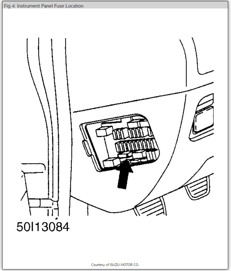 1998 Isuzu Rodeo Fuse Box Instrument Panel : 42 Wiring