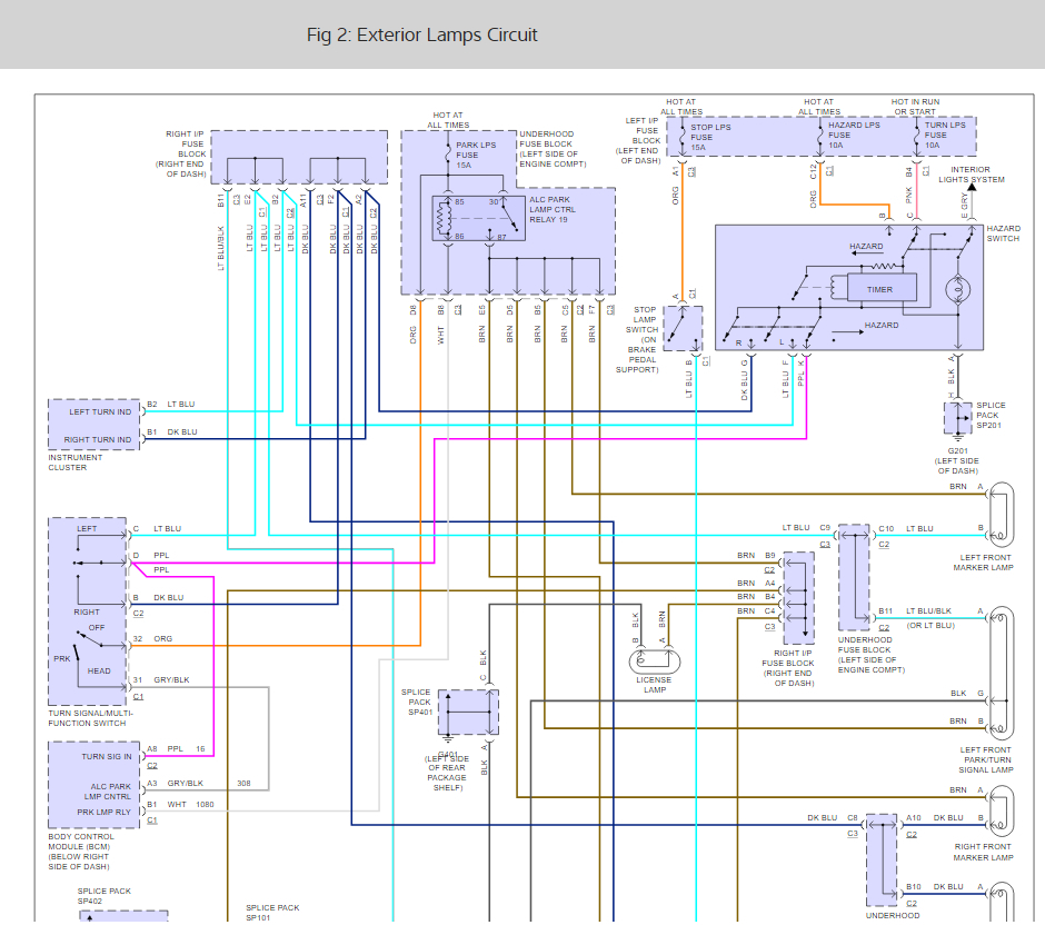 hight resolution of  f750 wiring diagram for turn signal flasher location electrical problem 6 cyl