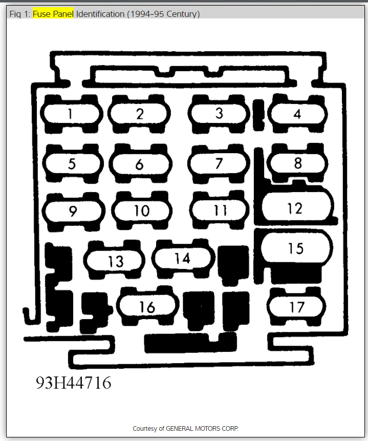1995 Buick Century Fuse Box Diagram 2003 Buick Regal Fuse