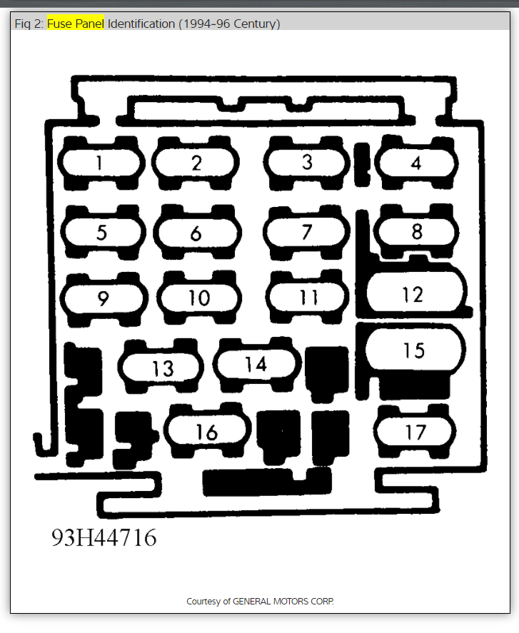 94 Buick Century Fuse Box • Wiring Diagram For Free
