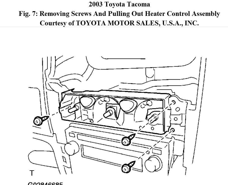 Service manual [How To Remove Heater From A 2003 Toyota