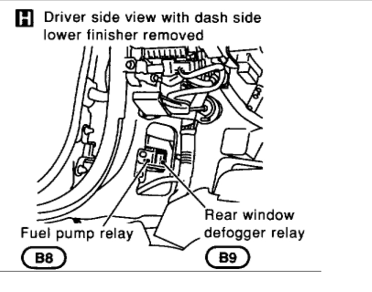 Cannot Locate the Fuel Pump Relay: Engine Performance