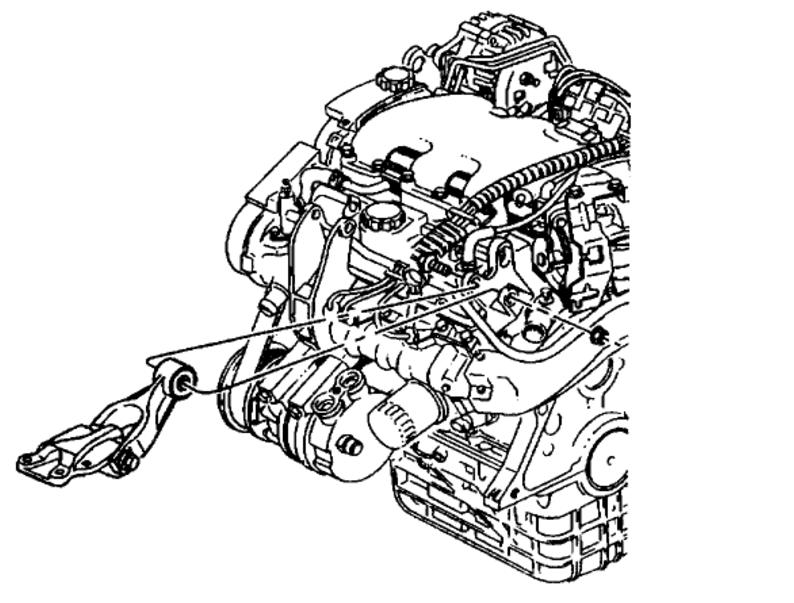Front Passenger Side Engine Mount Bracket Removal.