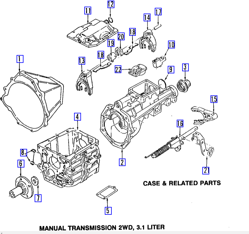 1998 Isuzu Rodeo Manual Transmission
