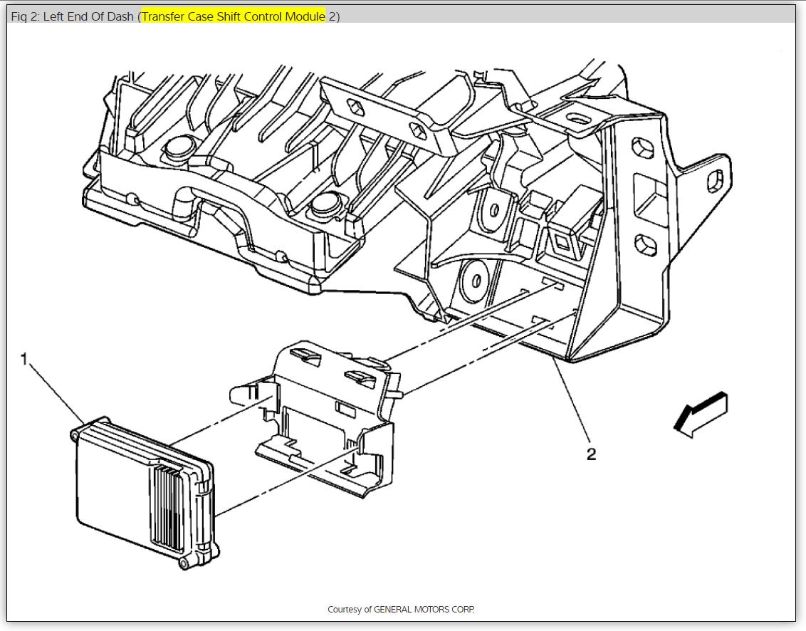 Repairing a Tranfer Case Control Module: Four Wheel Drive