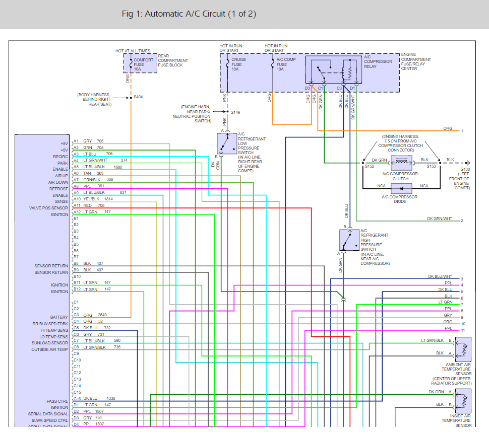 hight resolution of 2002 cadillac deville a c clutch wiring diagram