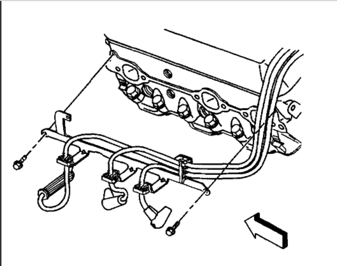 Spark Plug Wiring Diagram: Six Cylinder Two Wheel Drive