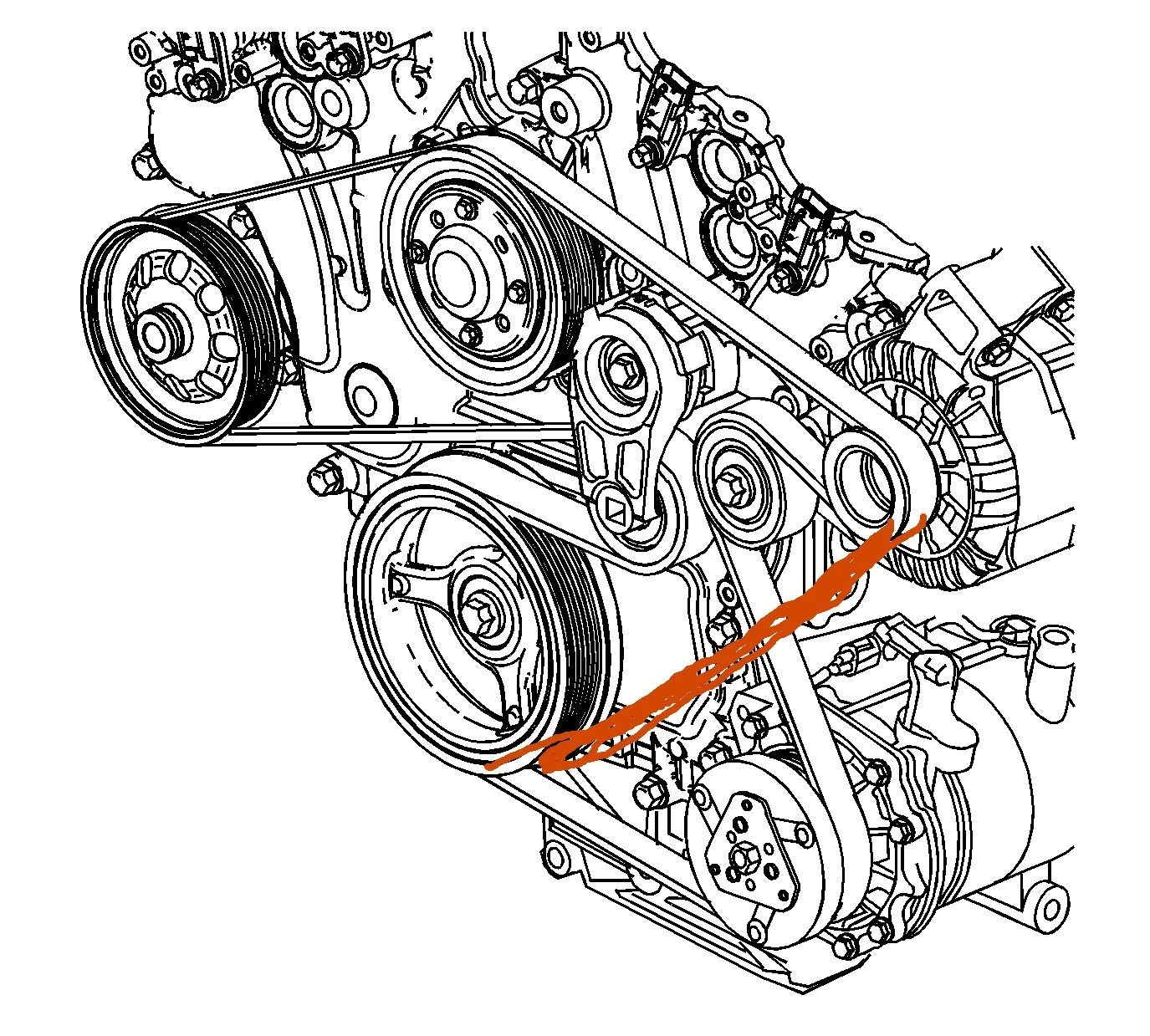 hight resolution of serpentine belt to bypass a c i would like to know if there is a 2005 buick rainier belt diagram