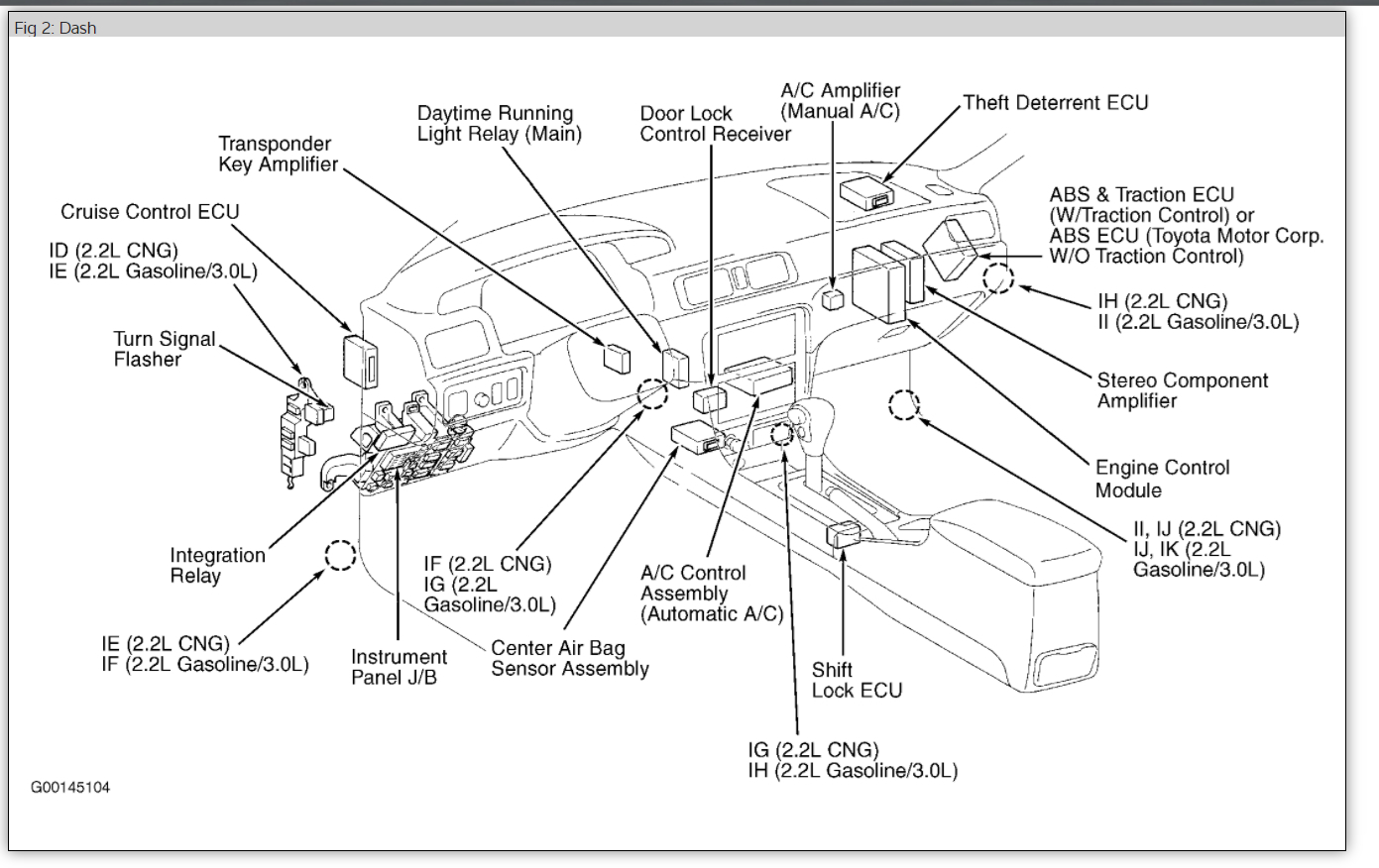 Toyota Camry Tail Light Wiring Diagram