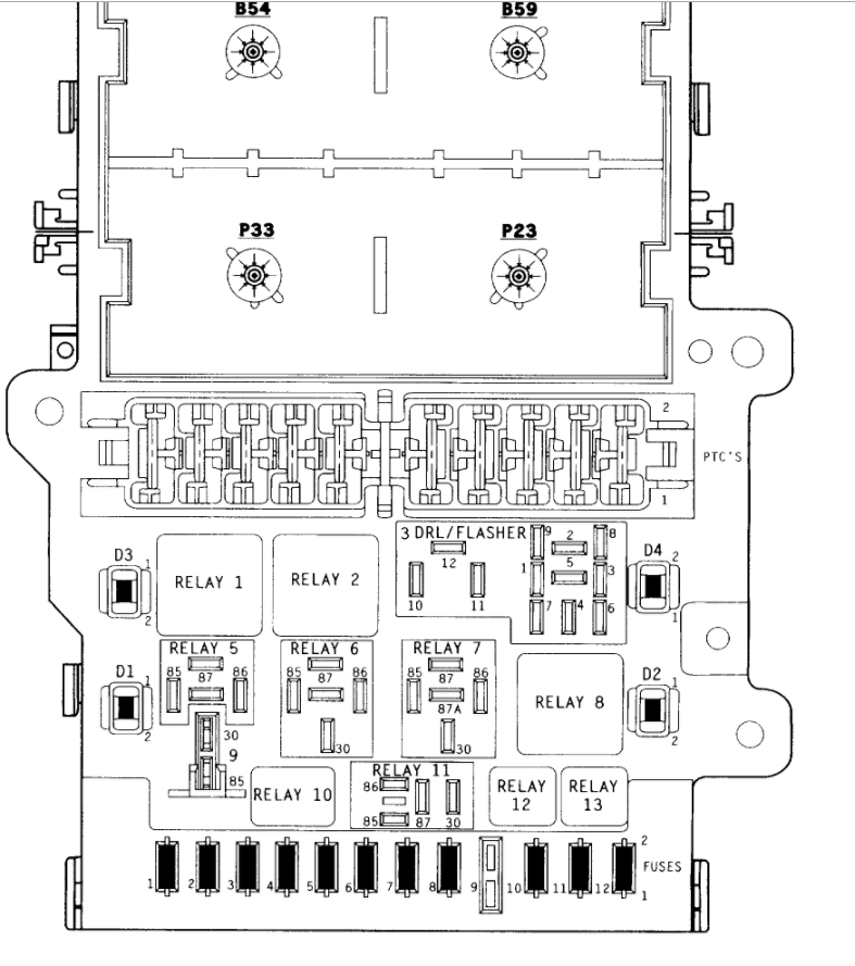 Fuse Box Diagrams: Electrical Problem 1996 Dodge Caravan 6