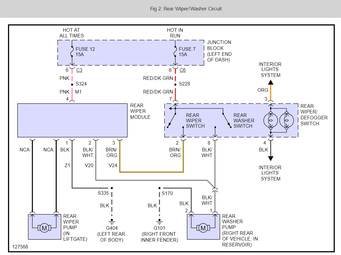 rear wiper motor wiring diagram for 3 way switch with multiple lights where is the fuse located assembly what it thumb