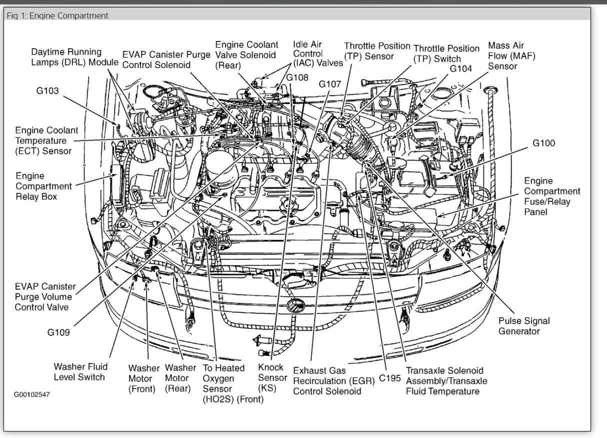 96 Mountaineer Engine Diagram