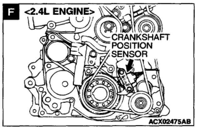 Crankshaft Position Sensor Location: 6 Cyl Front Wheel