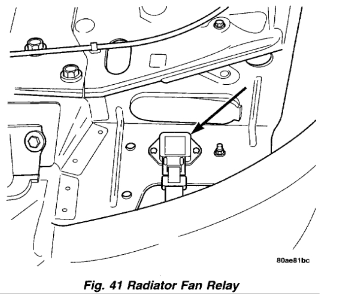 Radiator Fan Relay: Engine Cooling Problem 4 Cyl Two Wheel