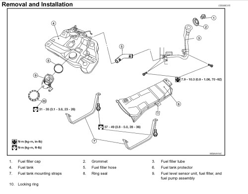 small resolution of fuel filter location engine performance problem 4 cyl front wheel nissan fuel filter diagram