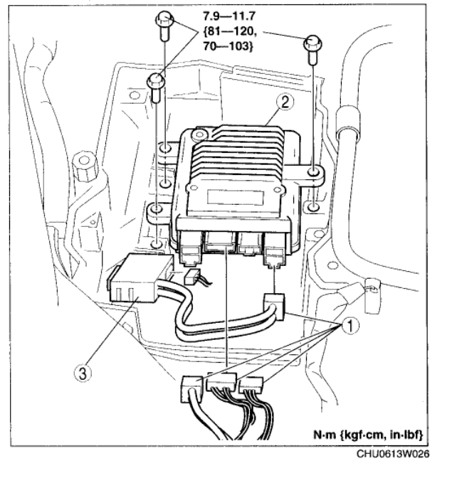 Location of the Speed Sensor: Electrical Problem6 Cyl Two
