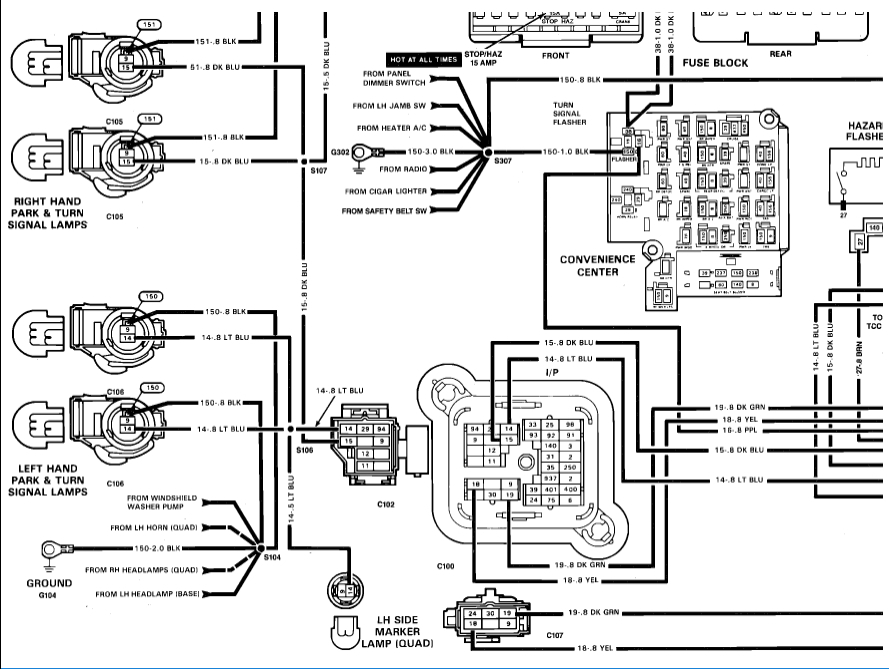 [DIAGRAM] 1998 Chevy Silverado Turn Signal Wiring Diagram